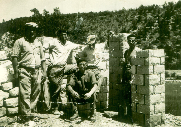 Canteros de El Palmar y Sangonera la Verde, en el Valle de los Caidos (1947)