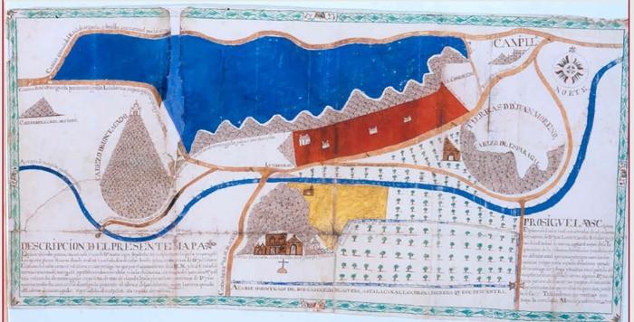 Antiguo mapa de El Esparragal bis